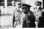 Heinrich Himmler with Joachim Peiper and other Waffen-SS officers, France, 1940