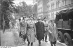 Heinrich Himmler and Spanish visitors at the barracks of the Leibstandarte Adolf Hitler, Berlin, Germany, circa 1940