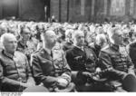 Kluge, Himmler, Dönitz, and Keitel at the funeral service of Colonel General Hans Hube, 26 Apr 1944