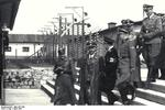 Heinrich Himmler visiting the Mauthausen Concentration Camp in Austria, 27 Apr 1941, photo 2 of 2