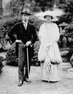 Crown Prince Hirohito and Princess Nagako, Mar 1924