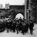 Crown Prince Hirohito visiting Edinburgh, Scotland, United Kingdom, 19 May 1921