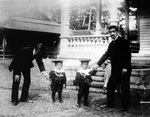 Crown Prince Yoshihito with his children Princes Hirohito and Yasuhito, 1904