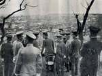 Crown Prince Hirohito visiting Yokohama, Japan after the Great Kanto Earthquake, 15 Sep 1923, photo 3 of 3