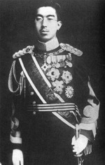 Portrait of Emperor Showa (Hirohito) in uniform, circa late 1930s or early 1940s