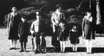 Emperor Showa (Hirohito), Empress Kojun, and their children, 7 Dec 1941