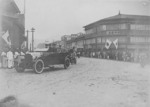 Crown Prince Hirohito in Kiirun (now Keelung), Taiwan, 16 Apr 1923; the building at left of photo was the post office