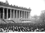 Nazi Party gathering outside the museum at Lustgarten, Berlin, Germany, 1 May 1936, photo 3 of 7