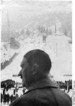 Chancellor Adolf Hitler at the opening ceremony of the IV Olympic Winter Games, Garmisch-Partenkirchen, Bavaria, Germany, 6 Feb 1936