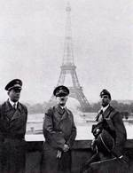 Speer, Hitler, and sculptor Arno Breker in Paris, France, 23 Jun 1940