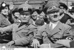 Adolf Hitler and Benito Mussolini at München, Germany for the Munich Conference, 29 Sep 1938, photo 3 of 9
