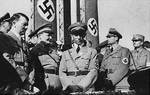 Hitler, Göring, Goebbels, and Heß at a Nazi rally, date unknown