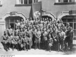 Adolf Hitler with the first graduating class of the Reich Leadership School, Munich, Germany, Jun-Jul 1931