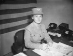 Colonel Oveta Hobby at her desk, 1940s