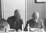 Manstein and Hoth eating a meal, southern Russia, summer 1942