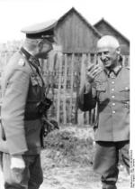 German Army Colonel Generals Heinz Guderian and Hermann Hoth, Russia, summer 1941