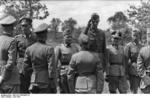 German Army Lieutenant General Walter Hoernlein and Colonel General Hermann Hoth visiting troops of the Großdeutschland Division, Russia, Jun 1943