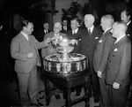 US Secretary of State Hull presiding the Davis Cup drawing, Washington DC, United States, 3 Feb 1938