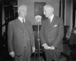 Norwegian Foreign Minister Halvdan Koht and US Secretary of State Cordell Hull, State Department, Washington DC, United States, 27 Oct 1937