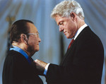 US President Bill Clinton awarding Daniel Inouye the Medal of Honor, 21 Jun 2000