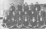 Flight leader Masao Sato (second row, third from right) with his pilots aboard Zuikaku, 6 Dec 1941; note Tetsuzo Iwamoto second row, right-most