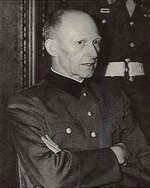 Jodl in court at Nuremberg, Germany, post-WW2