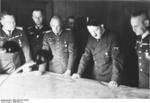 Hitler at a briefing at Brauchitsch