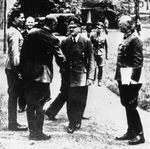 Stauffenberg and Puttkamer greeting Hitler at Wolf