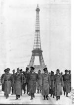 Adolf Hitler and his entourage visiting the Eiffel Tower in Paris, France, 23 Jun 1940