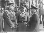 Wilhelm Keitel, Heinrich Himmler, and Erhard Milch awaiting before the armory for Adolf Hitler