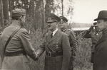 Carl Gustaf Emil Mannerheim, Adolf Hitler, Wilhelm Keitel, and Risto Ryti in Finland, 4 Jun 1942