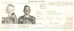Detention report of Wilhelm Keitel, containing mugshots taken on 22 Jun 1945