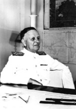 Admiral Husband Kimmel at the headquarters of the US Navy Pacific Fleet, Pearl Harbor, US Territory of Hawaii, Feb-Dec 1941