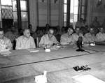 Thomas Kinkaid and John Hodge accepted Japanese surrender in the General Government Building in Seoul, Korea, 9 Sep 1945