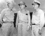 Theodore Wilkinson, Thomas Kinkaid, and Daniel Barbey, circa 1944