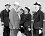 Knox reviewed WAVES officers, Naval Training Station, San Diego, Jun 1943