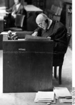 Hans Lammers during the Ministries Trial at Nuremberg, Germany, Sep 1948