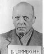 Portrait of accused war criminal Hans Lammers, 1947
