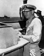 Lee aboard USS Washington, circa 1942-1943