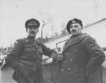 Lieutenant General Wladyslaw Anders and Lieutenat General Oliver Leese, Italy, 1944