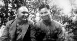 Soviet volunteer to Chinese Air Force Alexei Blagoveshchenskiy and Chinese pilot Luo Yingde, 1938