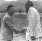 Chiang Ching-kuo and Ma Bufang, Chongqing, China, 28 Aug 1949
