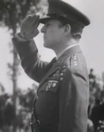 General Douglas MacArthur saluting, 1930s