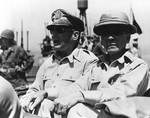 MacArthur and Osmeña en route to Leyte liberation ceremony, 23 Oct 1944