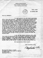 Letter from MacArthur to Truman regarding Wake Island conference, 30 Oct 1950, 1 of 2