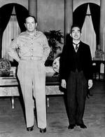 Douglas MacArthur with Emperor Showa, Tokyo, Japan, 27 Sep 1945, photo 2 of 2