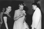 Luz Magsaysay, Eleanor Roosevelt, and Ramón Magsaysay in Manila, Philippines, 26 Aug 1955