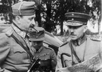 Carl Mannerheim and Lennart Oesch during a field exercise in Finnish Karelia, Finland, Aug 1939
