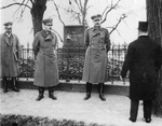 Lennart Oesch and Carl Mannerheim at a memorial for the Battle of Lützen, celebrating its 300th anniversary, 6 Nov 1932