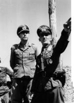 Colonel Horst Niemack and General Hasso von Manteuffel, Soviet Union, Aug 1944